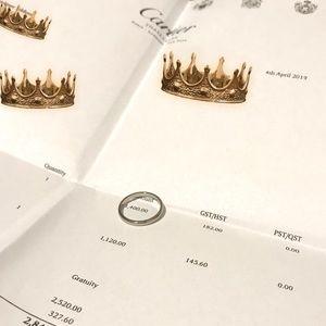 Authentic Cartier platinum classic ring